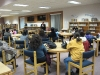 Juana Watson talks with Goshen Middle School parents