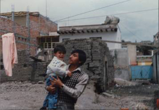 Miguel and his son in Mexico