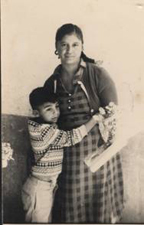Miguel with his mother in Mexico